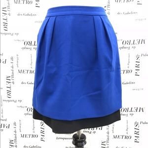 Vince Camuto Skirt SZ 2 A Line Tiered Fitted Zip